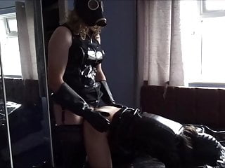 Alison and Zara - Gas Masked Fetish Shemales in Thigh Boots
