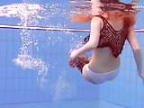 Matrosova hot ginger pussy in the pool