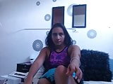 sexy one legged girl masturbating
