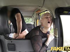 Fake Taxi blonde milf gets surprise anal sex and rims