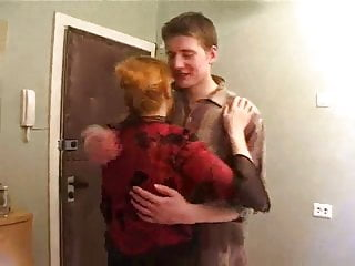 Big Tits Milf Mature video: Boy fucks mature mom
