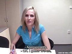 CZasting - chuda czeska blondynka na castingu