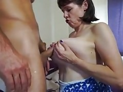 Busty British Mature Housewife Fucks Workman in Bedroom