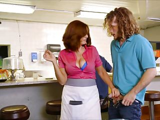 Public Nudity Busty Cougars vid: Andy James Busty Waitress