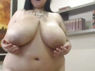 Gothic Brunette Big Ass video: Huge natural  tits melons juggs boobs