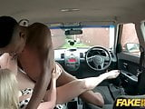 Fake Driving School Georgie Lyall gets a huge black dicking