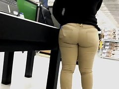 Sexy sister had a nice plump ass in those Khakis
