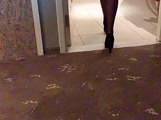 Lingerie Voyeur Femdom video: Nice butt slomotion