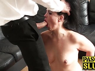 Cute UK milf roughly ass fucked in maledom paradise