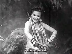 Bebé exótico bailes y sonrisas (Vintage de los años 40)