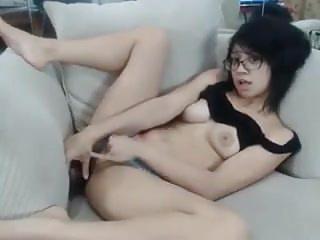 Masturbation Asian Webcams video: Asian Teen Creams Herself All Over Moms Sofa