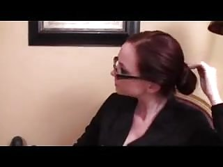Foot Fetish Footjob video: Cute Nerdy Girl in glasses Footjob43