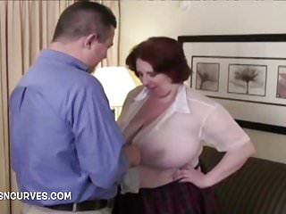 Bbw Big Tits Fucking video: The secretary has big tits and needs fucking