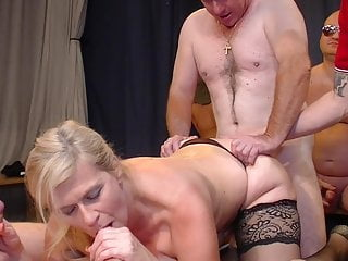 Bukkake Big Tits Secretary video: Secretary enjoys gangbang