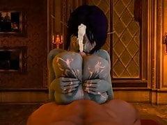 Soria usa le sue enormi tette per inculare un ragazzo fino al completamento