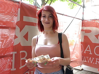 Hardcore Teen Big Cock video: GERMAN SCOUT - Redhead College Teen Jenny Fuck at Casting