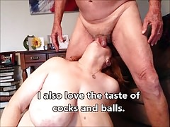 GRANNY LOVES A HARD COCK AND TASTY NUT SACK