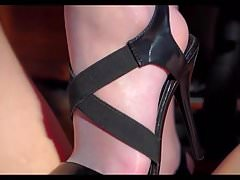 Carmen footjob shoejob 1