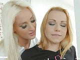 Daisy Lee and Rebecca Black in Plugged in lesbian scene by