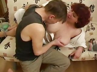 Big Ass Mature Cumshot video: Adult woman fucks young guy