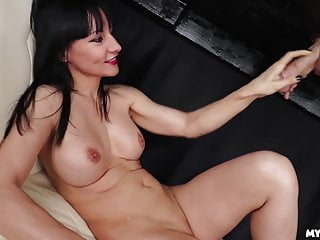 Milf Glory Hole Hd Videos video: LOL Watch Her Reaction when he CUMS on her face  - Milf Cums