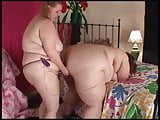 SuperSized BBW Lesbian have Fun with Dildo