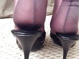Havana Fully Fashioned Nylon Stockings Heel Foot Fetish