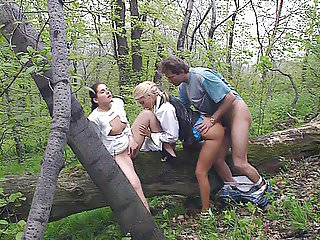 Anal Vintage Outdoor video: Private Video Magazine threesome in the Anal Park