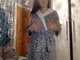 British teen dressing gown strip