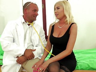 Hardcore Stockings Blonde video: Black Stockings DONNA BELL Visit The Doctor...