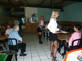 Amateur Public Nudity French video: 3 serveuses en sodo au resto : french anal milfs