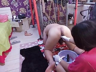 Bdsm Strapon Femdom video: Chinese mistress pegging