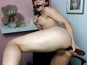 Sado Wild Webcamz girl anal dildo and pierced nipples