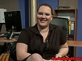 Chubby sub babe pounded in threeway