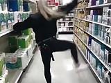 Spunky Asian Teen Dancer Jingle Bells