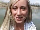Blonde fuck at lake