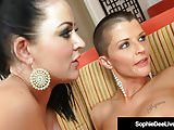 Uk Sophie Dee Brings Shaved Headed Joslyn James To Climax!