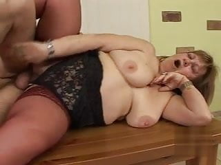 Blowjob Big Ass Mature video: Grandma Susanna fucks her girlfriend's son