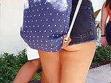 Candid voyeur hot thick ass in tiny shorts