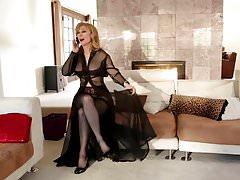Lesbian Readhead Seduce Busty Cougar