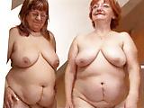 Lesbian BBW Granny Pleases A Fat Mature