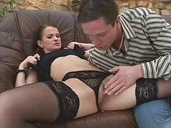 Slut In Pantyhose Played And Fucked