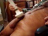Daddy with his vibrator cumming