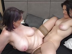 Mature Big-boobed Mommy Plumbs Girl-girl Daughter