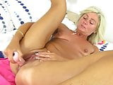 Mature mom with small tits squirts during solo