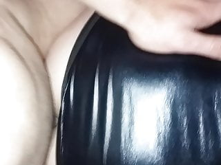 Latex Big Cock Brunette video: Fucking in leather dress