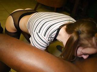 Interracial Facial Cumshot video: Amber meets her match part 1