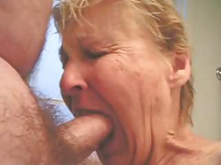 Granny sucking dick.