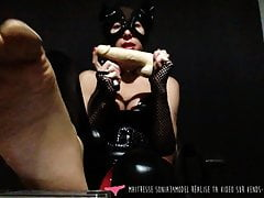 JOI - French Foot Fetish Domina i Micro Penis Slave