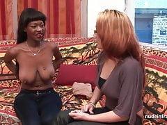 Casting tetona francés balck duro anal follada y jizzed